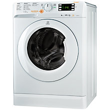 Buy Indesit XWDE861480X Washer Dryer, 8kg Wash/6kg Dry Load, A Energy Rating, 1400rpm Spin, White Online at johnlewis.com