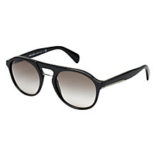 Buy Prada PR09PS 1AB0A7 Round Acetate Sunglasses, Black Online at johnlewis.com