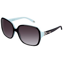 Buy Tiffany & Co TF4056 Square Sunglasses, Black / Azure Online at johnlewis.com