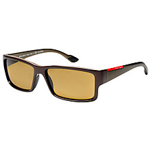 Buy Prada Linea Rossa PS05OS Square Sunglasses, Brown Online at johnlewis.com