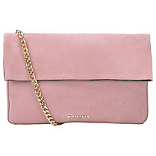 Buy Whistles Rosemead Foldover Leather Chain Clutch Bag Online at johnlewis.com