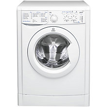 Buy Indesit IWSC61051 ECO Washing Machine, 6kg Load, A+ Energy Rating, 1000rpm Spin, White Online at johnlewis.com