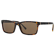 Buy Burberry BE4162 300273 Rectangular Framed Sunglasses, Dark Havana Online at johnlewis.com