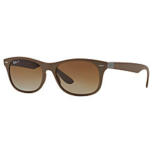 Buy Ray-Ban RB4207 New Wayfarer LiteForce, Matte Brown Online at johnlewis.com