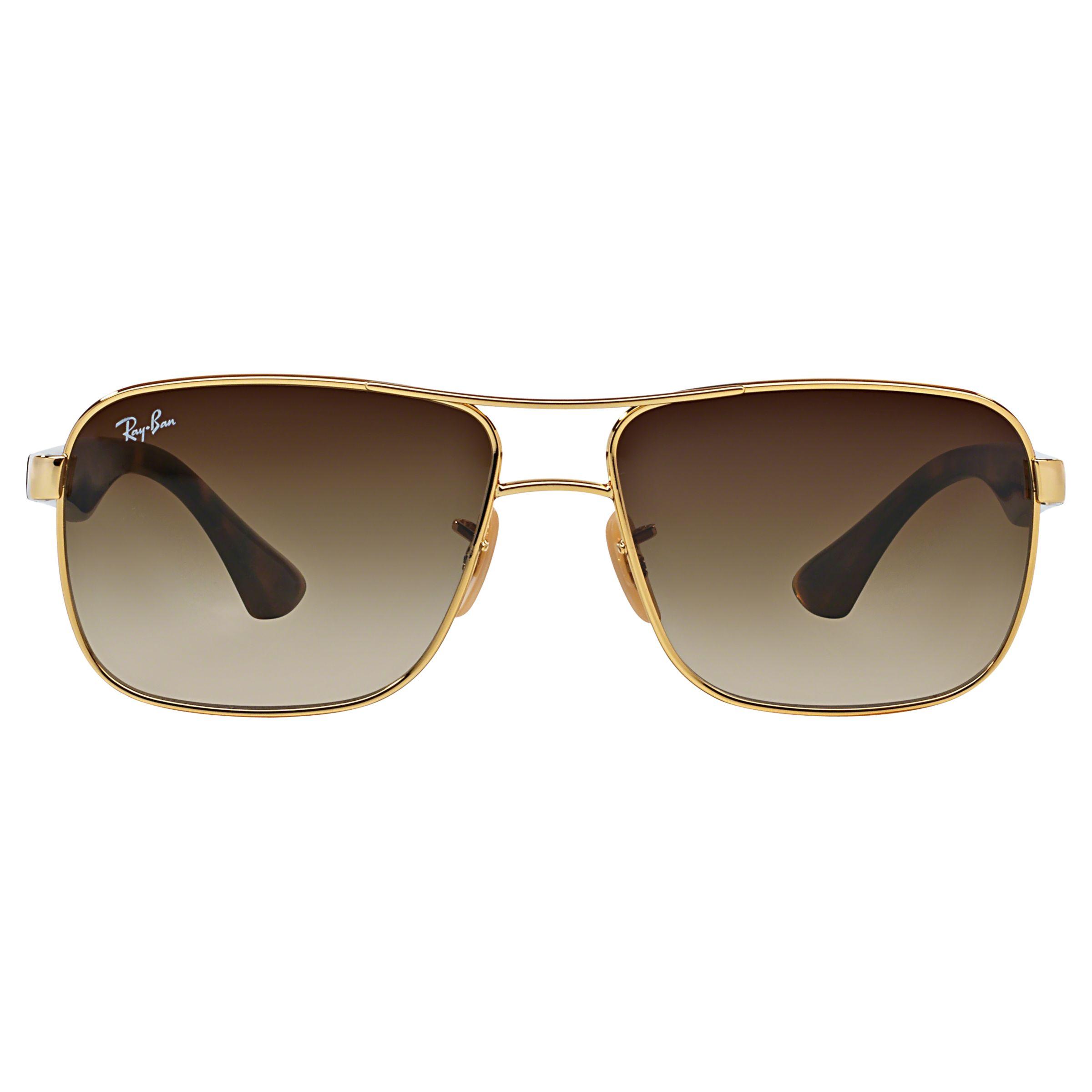 Ray Ban Square Frame Glasses : Buy Ray-Ban RB3516 Square Frame Sunglasses John Lewis