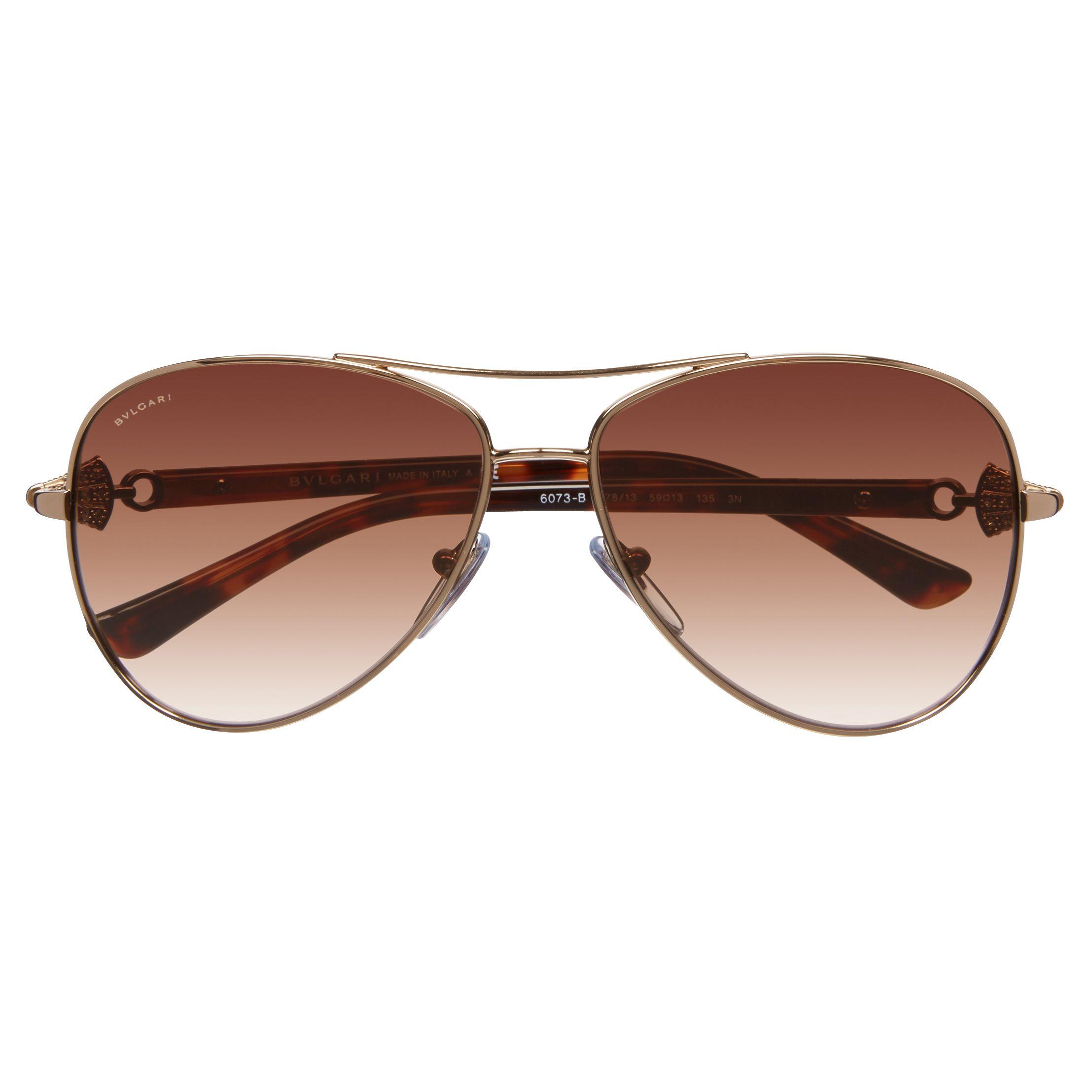Bvlgari Sunglasses Gold Frame : Buy Bvlgari BV6073B Aviator Frame Sunglasses, Gold John ...