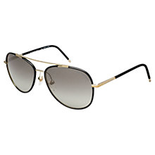 Buy Burberry BE3078J Aviator Frame Sunglasses, Gold Online at johnlewis.com