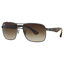 Buy Ray-Ban RB3516 Square Frame Sunglasses Online at johnlewis.com