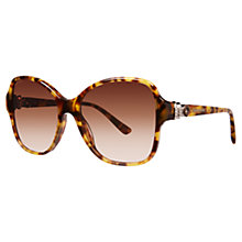 Buy Bvlgari BV8137B Square Diamanté Sunglasses, Havana Online at johnlewis.com