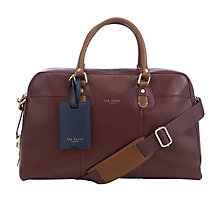 Buy Ted Baker Klow Document Bag, Oxblood Online at johnlewis.com