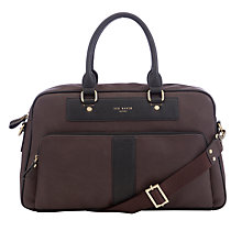 Buy Ted Baker Slinkit Holdall, Chocolate Online at johnlewis.com