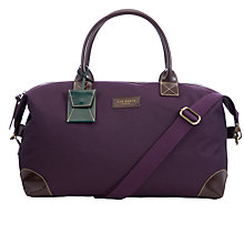 Buy Ted Baker Manaseh Holdall, Purple Online at johnlewis.com