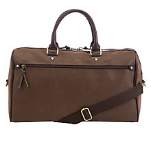 Buy Ted Baker Crocdun Scotch Grain Holdall, Chocolate Online at johnlewis.com