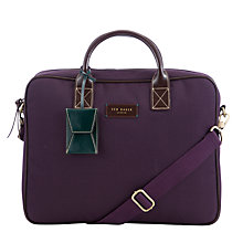 Buy Ted Baker Cornell Document Bag, Purple Online at johnlewis.com