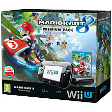 Buy Nintendo Wii U 32GB Premium Pack with Mario Kart 8 & Free Game (by redemption until 31 July), Sensor Bar and Accessories Online at johnlewis.com