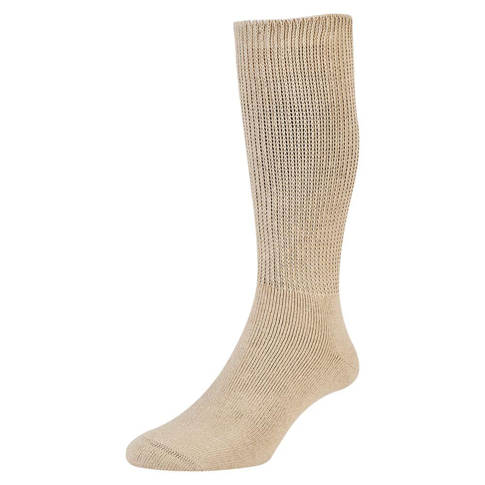 HJ Hall HJ Hall Diabetic Socks, One Size, Oatmeal