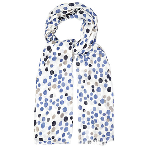 Buy White Stuff Paint Spot Scarf, Multi Online at johnlewis.com