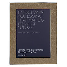 "Buy John Lewis Shagreen Effect Photo Frame, Sand, 5 x 7"" (13 x 18cm) Online at johnlewis.com"