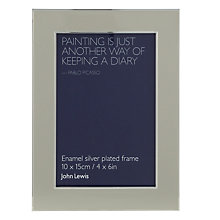"Buy John Lewis Enamel Photo Frame, Stone, 4 x 6"" (10 x 15cm) Online at johnlewis.com"