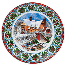 Buy Dunoon Christmas 2014 Plate, Dia.19.5cm Online at johnlewis.com