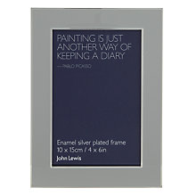 "Buy John Lewis Enamel Photo Frame, Dove Grey, 4 x 6"" (10 x 15cm) Online at johnlewis.com"
