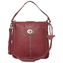 Buy White Stuff Camden Leather Across Body Bag, Red Plum Online at johnlewis.com