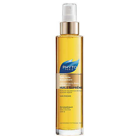 Buy Phyto Huile Supreme Rich Smoothing Oil, 100ml Online at johnlewis.com