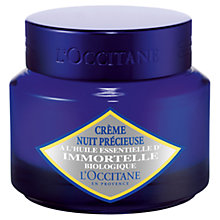 Buy L'Occitane Immortelle Precious Night Cream, 50ml Online at johnlewis.com