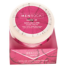 Buy Menrock Sicilian Lime Shaving Cream, 100ml Online at johnlewis.com