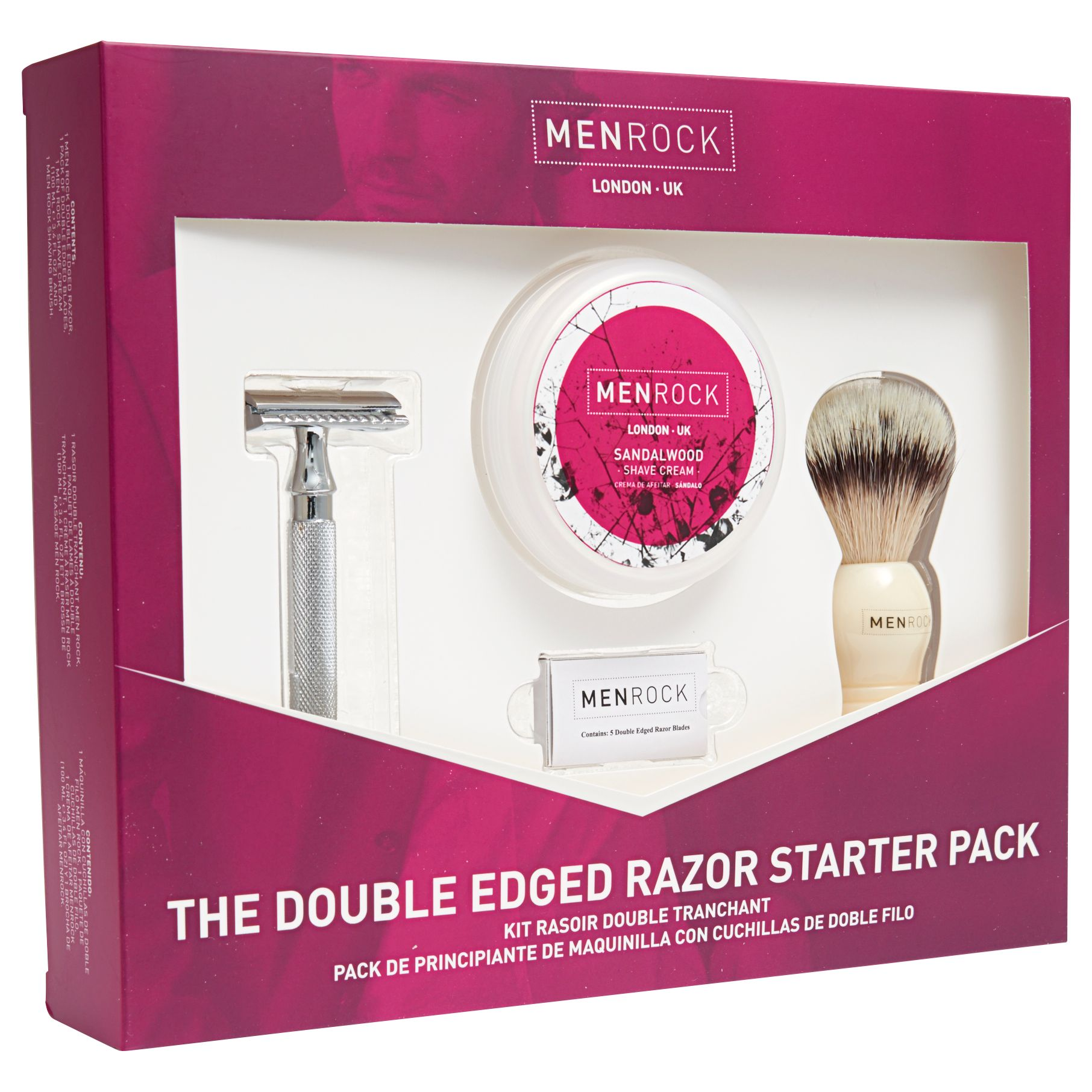 Men Rock Men Rock Double Edged Razor Starter Kit Gift Set