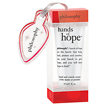 Buy Philospohy Hands of Hope Christmas Ornament Hand & Cuticle Cream, 30ml Online at johnlewis.com