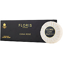 Buy Floris China Rose Luxury Soap, 3 x 100g Online at johnlewis.com