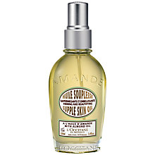 Buy L'Occitane Almond Supple Skin Oil, 100ml Online at johnlewis.com