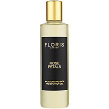 Buy Floris Rose Petals Moisturising Bath & Shower Gel, 250ml Online at johnlewis.com