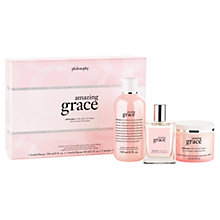 Buy Philosophy Amazing Grace Layering Bodycare Gift Set Online at johnlewis.com