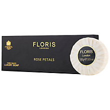 Buy Floris Rose Petals Luxury Soap, 3 x 100g Online at johnlewis.com