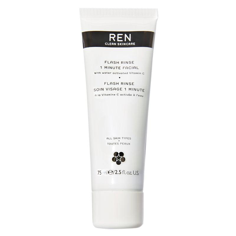 REN REN Flash Rinse 1 Minute Facial Treatment, 75ml