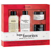 Buy Philosophy Hope Favourites Skincare Gift Set Online at johnlewis.com