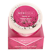 Buy Menrock Sandalwood Shave Cream, 100ml Online at johnlewis.com