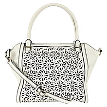 Buy Oasis Cutwork Tote Bag, White Online at johnlewis.com