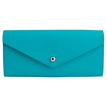 Buy Paper Thinks Recycled Leather Envelope Wallet, Turquoise Online at johnlewis.com