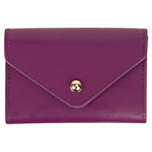 Buy Paper Thinks Recycled Leather Card Holder, Purple Online at johnlewis.com