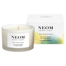 Buy Neom Feel Refreshed Travel Candle, 75g Online at johnlewis.com