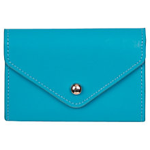 Buy Paper Thinks Recycled Leather Card Holder, Turquoise Online at johnlewis.com