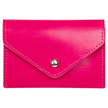 Buy Paper Thinks Recycled Leather Card Holder, Bright Pink Online at johnlewis.com