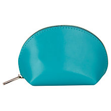 Buy Paper Thinks Recycled Leather Coin Pouch, Turquoise Online at johnlewis.com