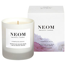 Buy Neom Complete Bliss Standard Candle, 185g Online at johnlewis.com