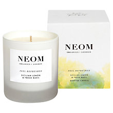 Buy Neom Feel Refreshed Standard Candle, 185g Online at johnlewis.com