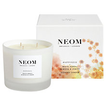Buy Neom Happiness 3 Wick Candle, 420g Online at johnlewis.com