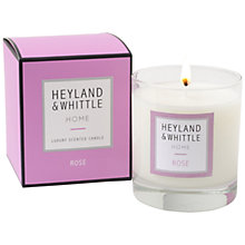 Buy Heyland & Whittle Rose Candle, 220g Online at johnlewis.com